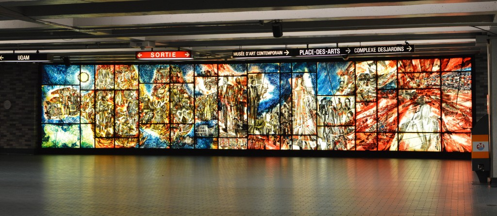 picture of subway mural